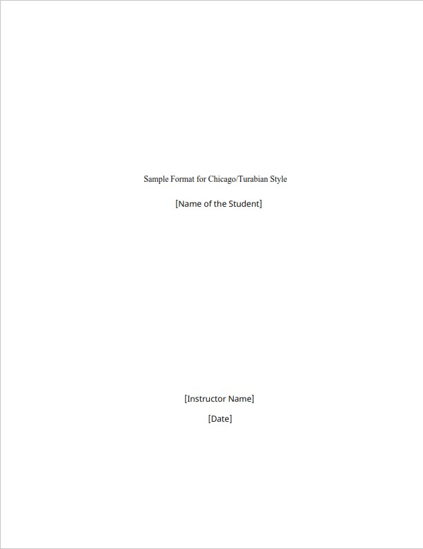 Chicago Essay Format Template  (PDF)